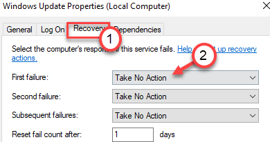 Recovery Take No Action Min