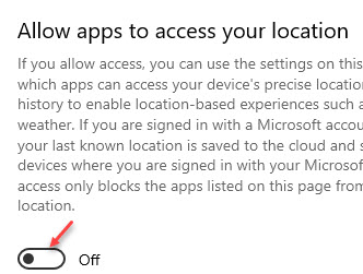 Allow Apps To Access Your Location Turn Off