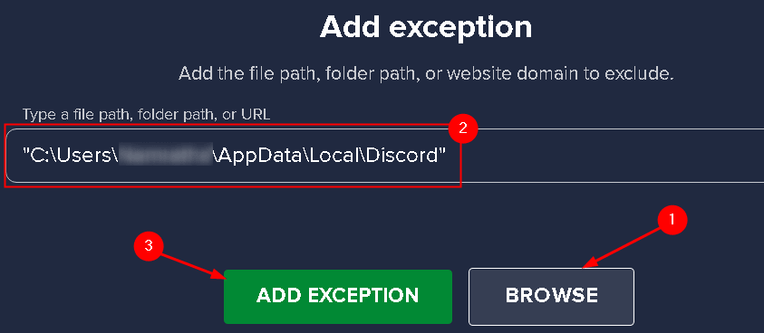 Avast Add Discord Folder Exception Min