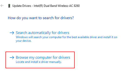 Browse My Computer For Drivers