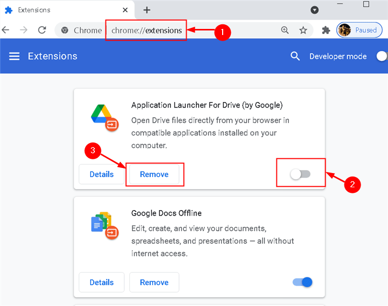 Chrome Extensions Delete Min