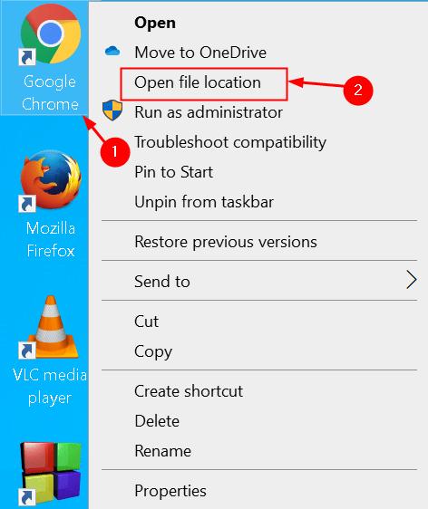 Chrome Open File Location