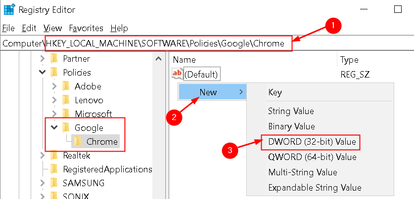 Chrome Registry Editor Disable Feature Min