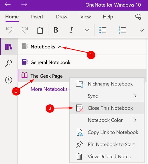 Close Notebook Onenote Windows Min