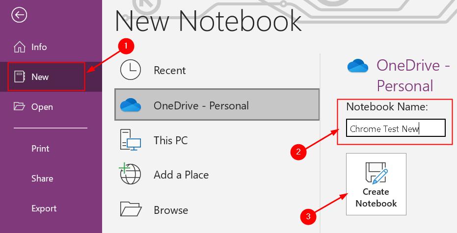 Create New Notebook Min