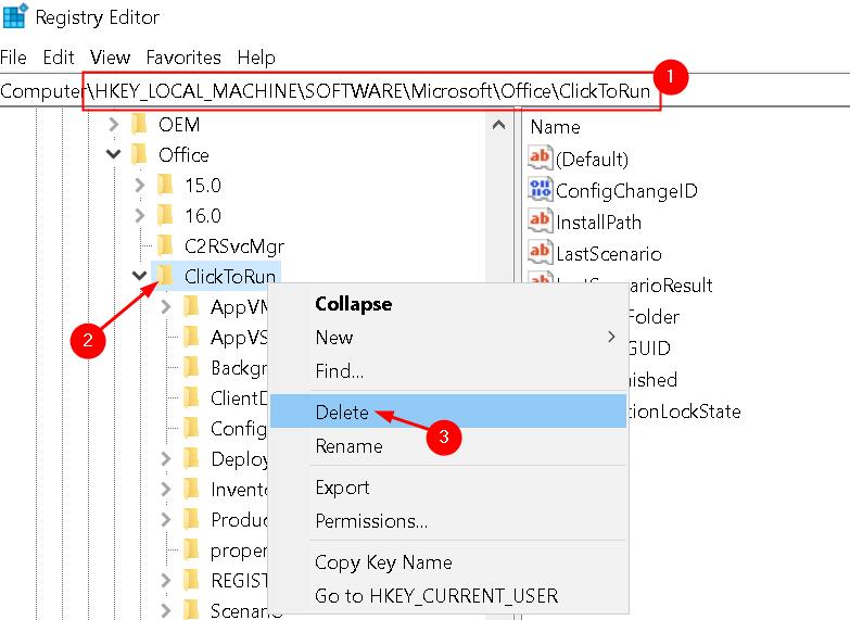 Delete Keys Registry Min