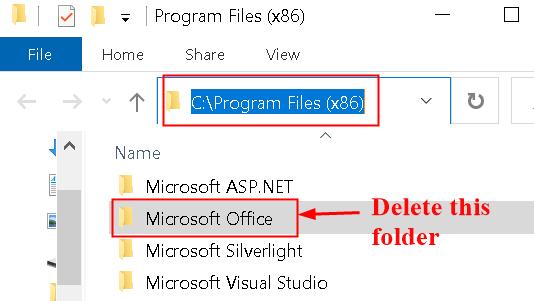 Delete Office Folder X86 Min
