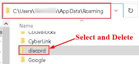 Discord App Data Delete Folder