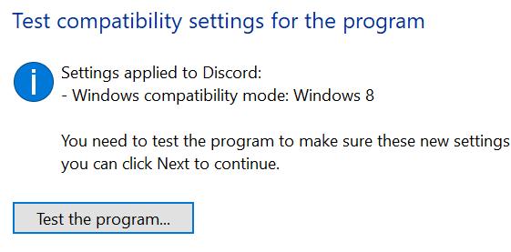 Discord Test Compatibility Settings Min