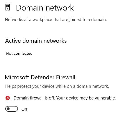 Domain Network Firewall