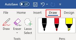 Draw Menu Option