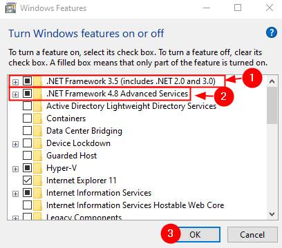 Enable Net Framework