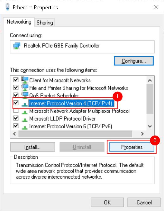 Ethernet Properties Ipv4 Properties Button Min