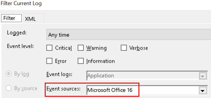 Filter Office Logs Min