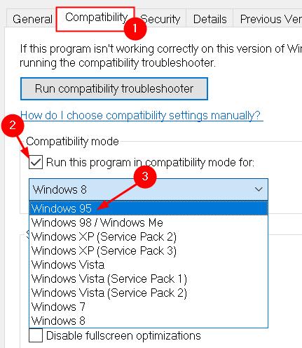 Game Change Compatibility Mode Windows Version Min