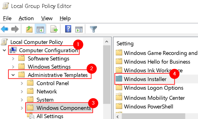 Local Group Policy Editor Windows Installer Min