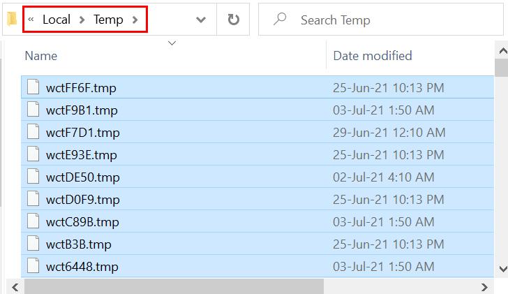 Local Temp Select All Delete Min