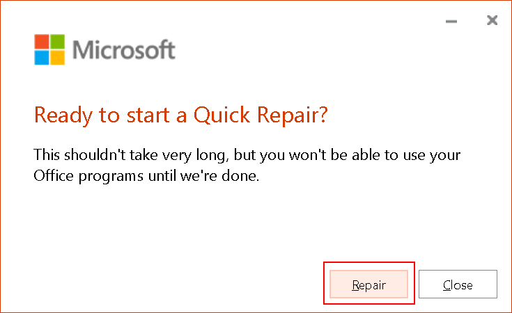 Ms Office Ready To Repair