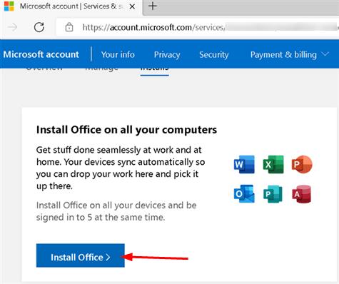 Microsoft Install Office Min