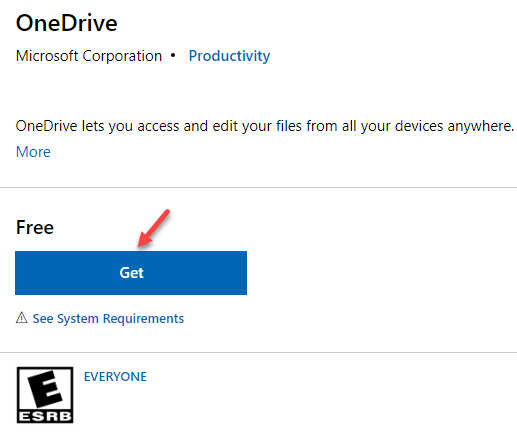 Microsoft Official Onedrive Page Get