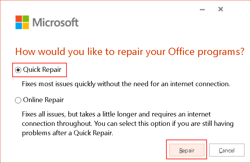 Ms Office Repair Options Min