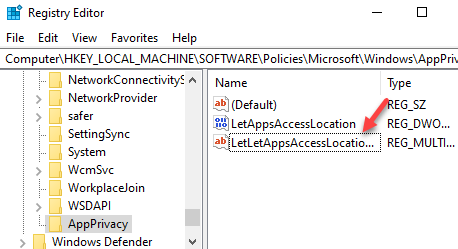 Multi String Values Rename Letappsaccesslocation Userincontroloftheseapps