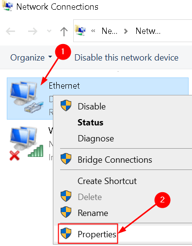 Network Connections Properties Current Network Min