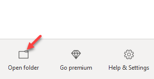 Onedrive Open Folder