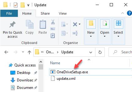 Onedrive Update Folder Onedrivesetup.exe Double Click