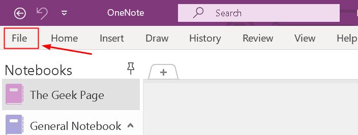 Onenote 2016 File Menu Min