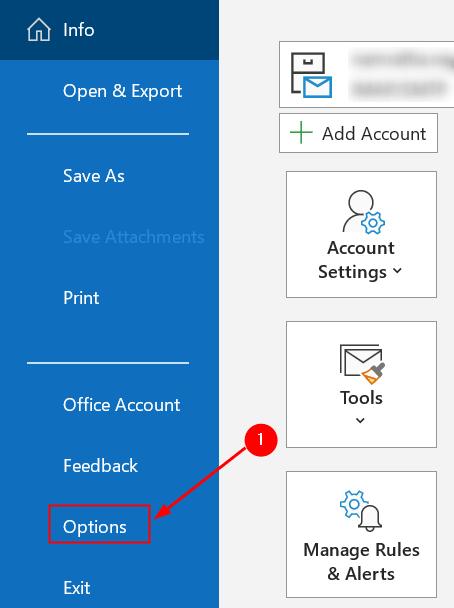 Outlook Options Menu Min