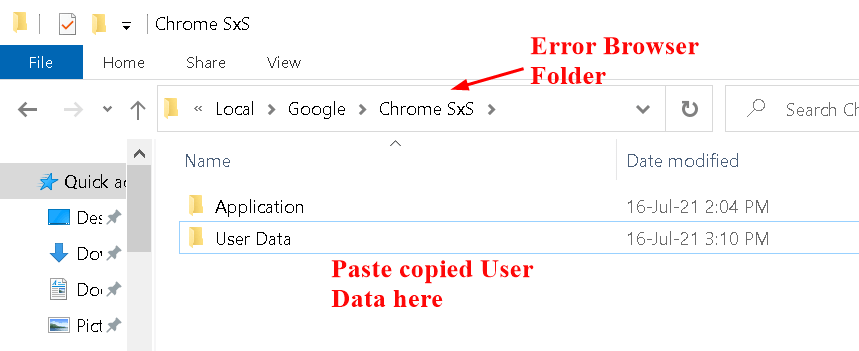 Paste Copied User Data Min