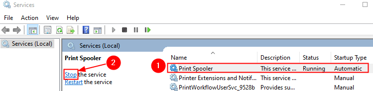 Print Spooler Service Min