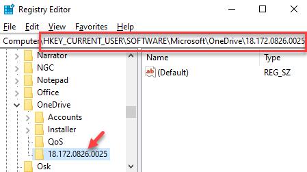 Registry Editor Navigate Tp Onedrive App Key Delete The Numeric Folder