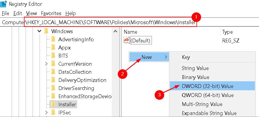 Registry New Entry Windows Installer Min