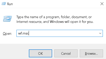 Run Windows Firewall Advanced Security Min