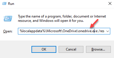 Run Command Type Command To Reset Onedrive App Enter