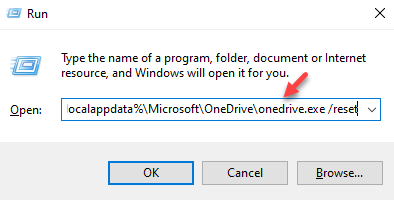 Run Command Type Commandd To Reser Onedrive Enter