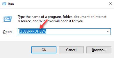 Run Command Type Path To User Profile Ok