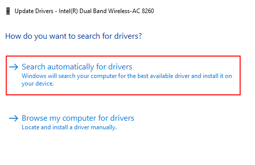 Search Automatically For Drivers