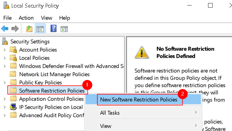 Security Policy New Software Restriction Policies Min