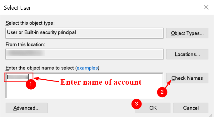 Services Logon Select User Min