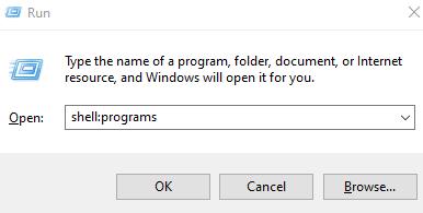 Shell Programslocal User