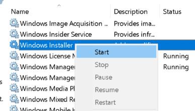 Start Windows Installer Min