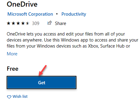 Store Search Result Onedrive App Get