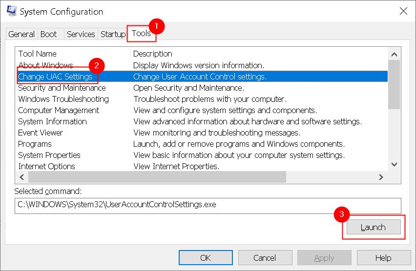 System Configuration Tools Change Uac Settings Min