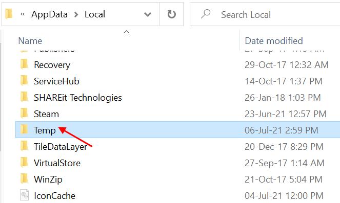 Temp Folder Windows Min