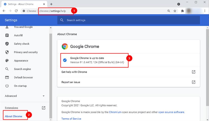 Update Chrome Min