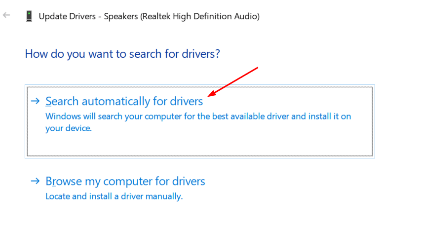 Update Drivers Search Automatically Min