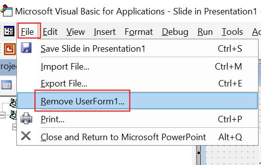 Visual Basic Remove Form Min